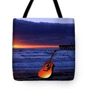 Guitar At Sunrise Tote Bag