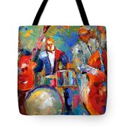 Guitar Drums And Bass Tote Bag