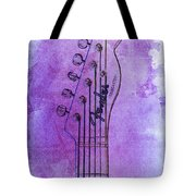 Guitar Headstock Purple Vintage by Drawspots Illustrations