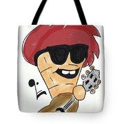 Guitar Ice Cream Tote Bag