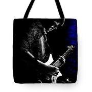 Guitar Man In Blue Tote Bag by Meirion Matthias