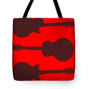 Guitar Silhouette Background Tote Bag
