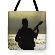Guitar Silhouette Tote Bag