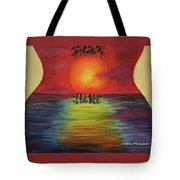 Guitar Suset Tote Bag