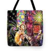 Guitar Watercolor Tote Bag
