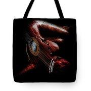 Guitar Woman Tote Bag