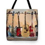Guitars On A Rack Tote Bag
