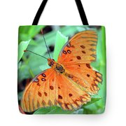 Gulf Fritillary Butterfly Cropped Tote Bag