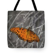 Gulf Fritillary Butterfly In The Brambles Tote Bag