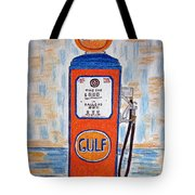 Gulf Gas Pump Tote Bag