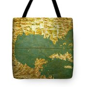 Gulf Of Mexico, States Of Central America, Cuba And Southern United States Tote Bag