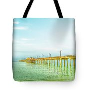 Gulf Shores Pier Tote Bag