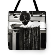 Gull At Pier Tote Bag