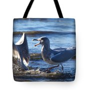Gull Fighting Tote Bag