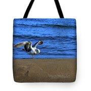 Gull On The Beach  Tote Bag