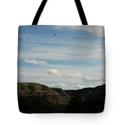 Gull Over The Badlands Tote Bag