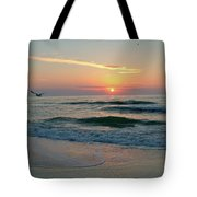 Gulls On The Gulf At Sunset Tote Bag