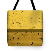 Gulls Orange Tint Tote Bag