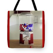 Gumball Red White And Blue Tote Bag