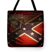 Gun And Confederate Flag Tote Bag