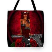 Guns And Roses Tote Bag
