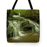 Gushing At Cave Falls Tote Bag