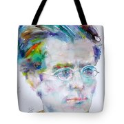 Gustav Mahler - Watercolor Portrait.3 Tote Bag