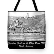 Gutenfels Castle On The Rhine, Kaub, Germany, 1903, Vintage Phot Tote Bag