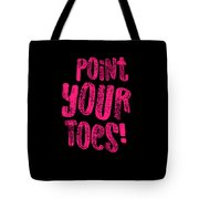 Gymnastics Point Your Toes Hot Pink Gymnast Light Tote Bag