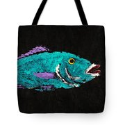Gyotaku Hog Lipped Snapper Tote Bag