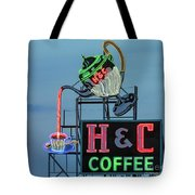 H And C Coffee Tote Bag