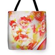 H. G. Wells - Watercolor Portrait Tote Bag