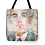 H. P. Lovecraft - Watercolor Portrait.3 Tote Bag