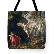Hagar And Ishmael In The Wilderness Tote Bag