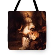 Hagar And The Angel 1645 Tote Bag