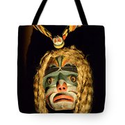 Haida Carved Wooden Mask 4 Tote Bag