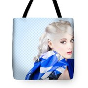 Hair And Beauty Fashion Portrait Tote Bag