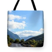 Hairpin Curve On Greek Mountain Road Tote Bag