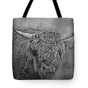 Hairy Highlander Bw Tote Bag