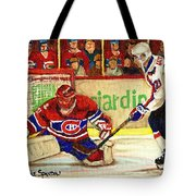 Halak Makes Another Save Tote Bag by Carole Spandau