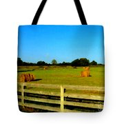 Hale Bales In Late Summer Tote Bag