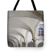 Half Arched Portal Of The Minorite Monastery Cloister Attached T Tote Bag