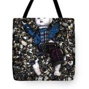 Half Buried Doll Tote Bag