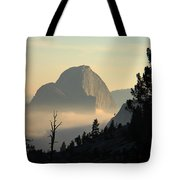 Half Dome And Fog At Olmsted Point In Yosemite Tote Bag