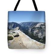 Half Dome And Yosemite Valley From The Diving Board - Yosemite Valley Tote Bag