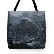 Half Dome Black And White  Tote Bag