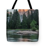 Half Dome In Evening Light Tote Bag