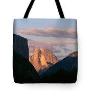 Half Dome Mountain At Sunset, Yosemite Tote Bag