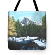 Half Dome Snow Tote Bag