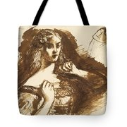 Half-length Sketch Of A Young Woman Tote Bag
